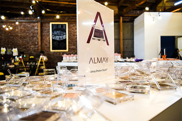 almay launch event product display
