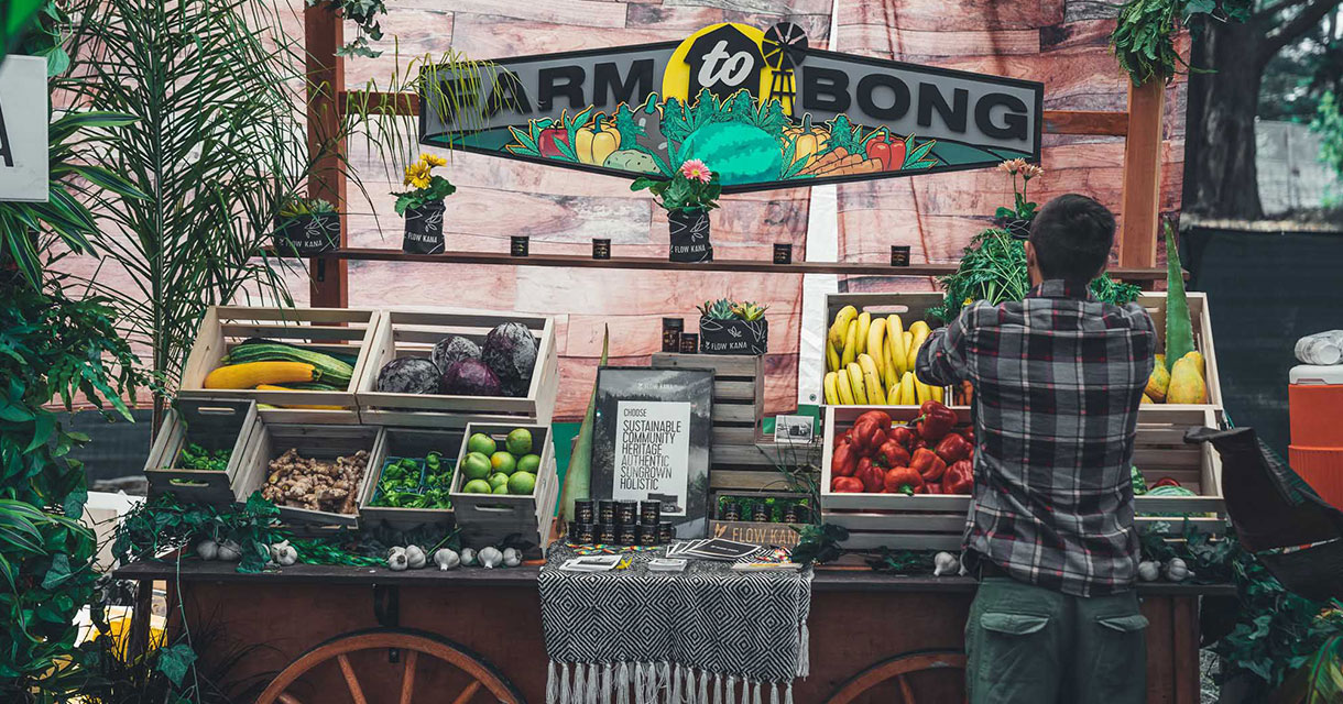farm to bong produce stand at outside lands