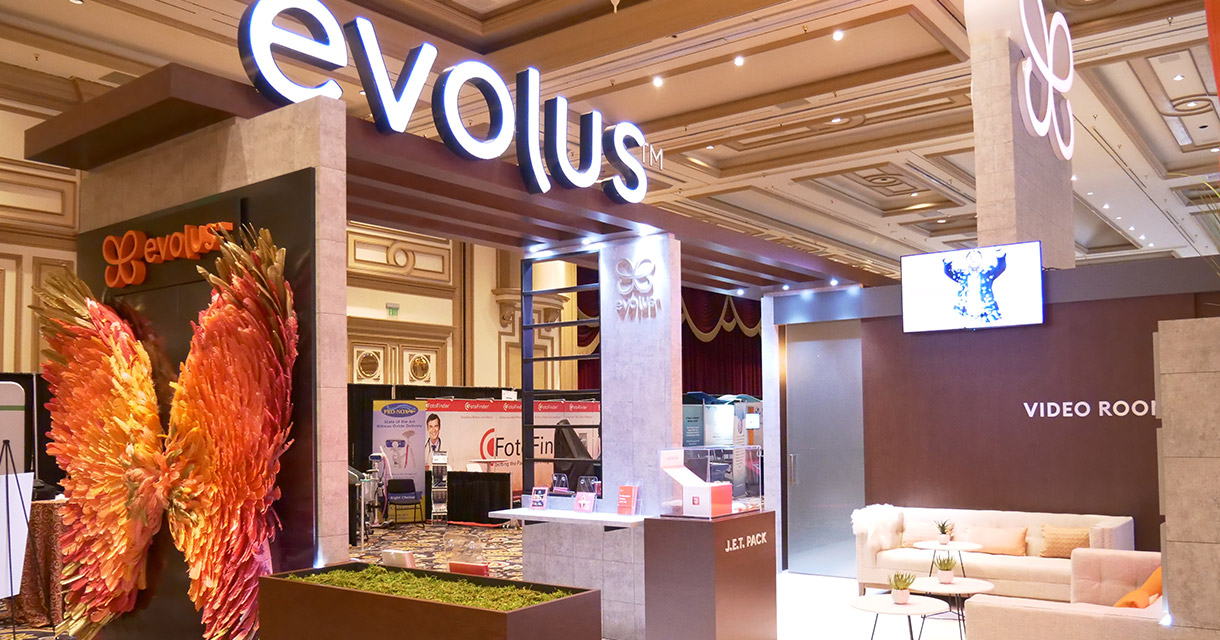 evolus brand activation trade show booth video room fgpg experiential