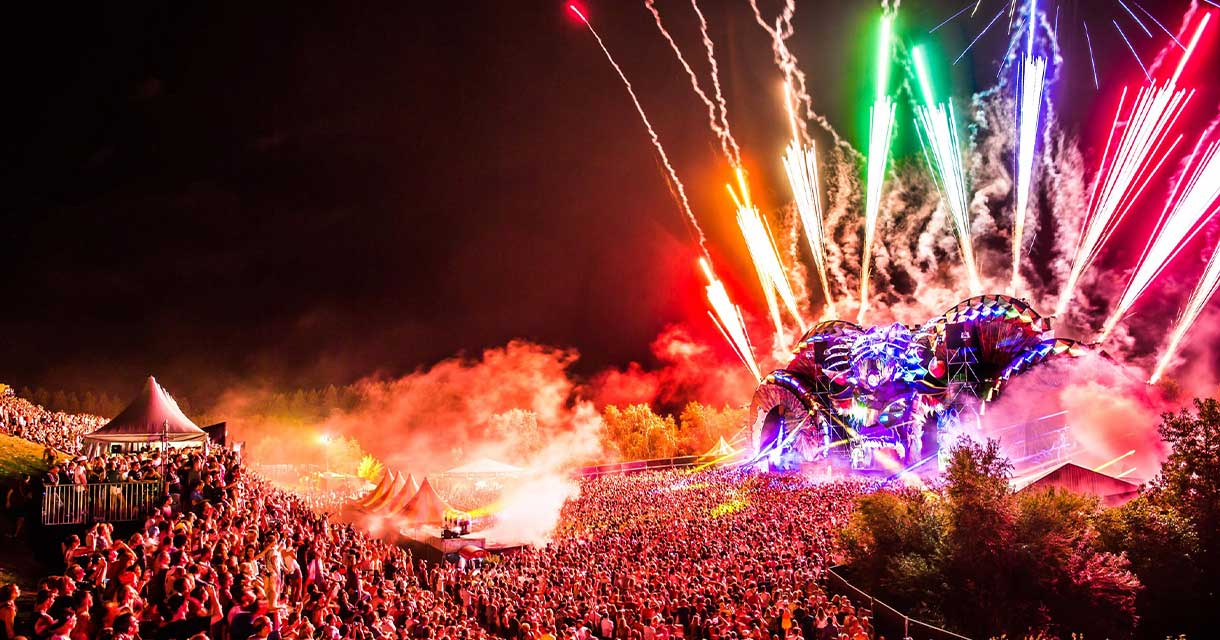 music festival fireworks europe experiential